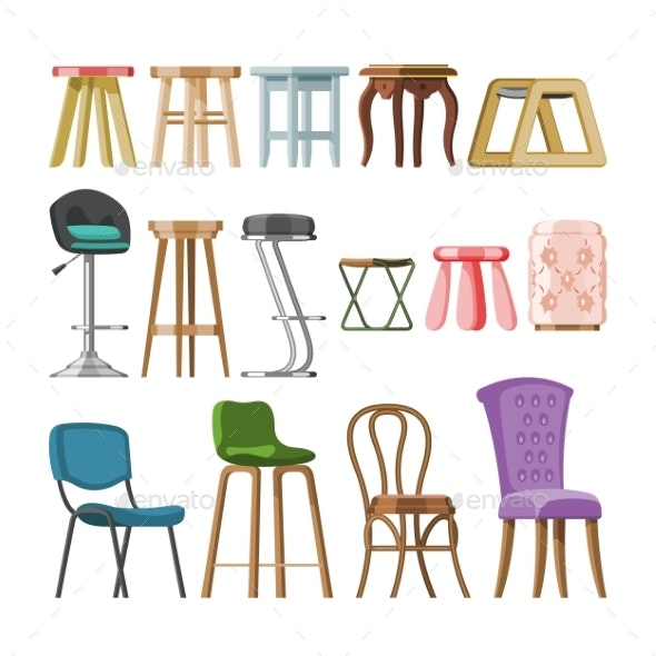 Chair Vector Comfortable Furniture Stool Bar-Chair - Man-made Objects Objects