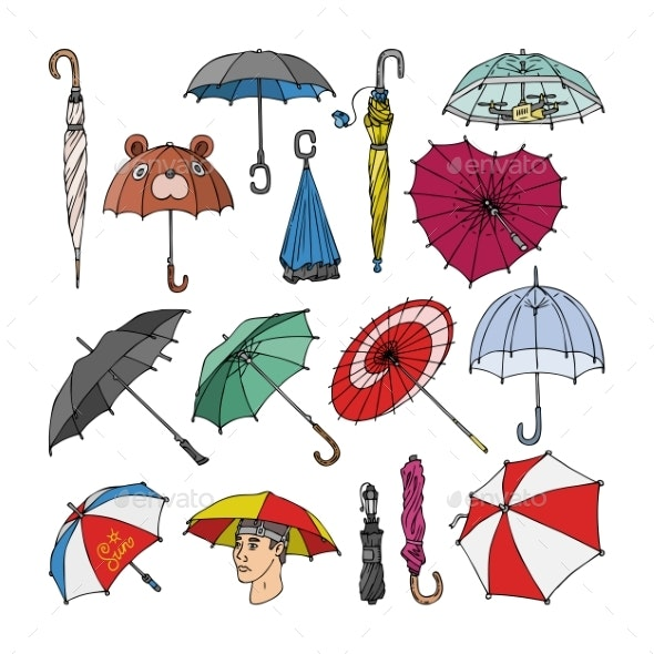 Umbrella Vectors - Man-made Objects Objects