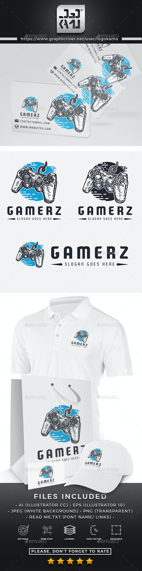 Gamers Logo - Objects Logo Templates