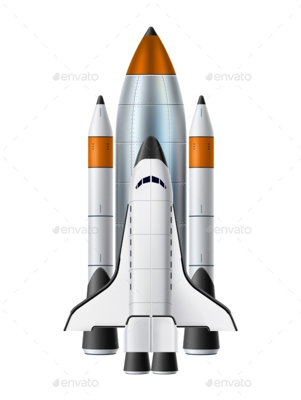 Vector Spacecraft Shuttle Rocket Mock Up Realistic - Technology Conceptual