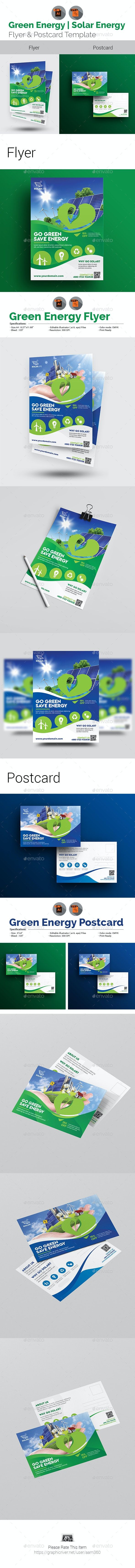 Green Energy Flyer & Postcard Bundle - Corporate Flyers