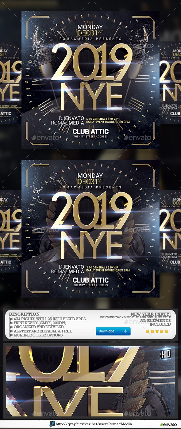 2019 NYE - Clubs & Parties Events