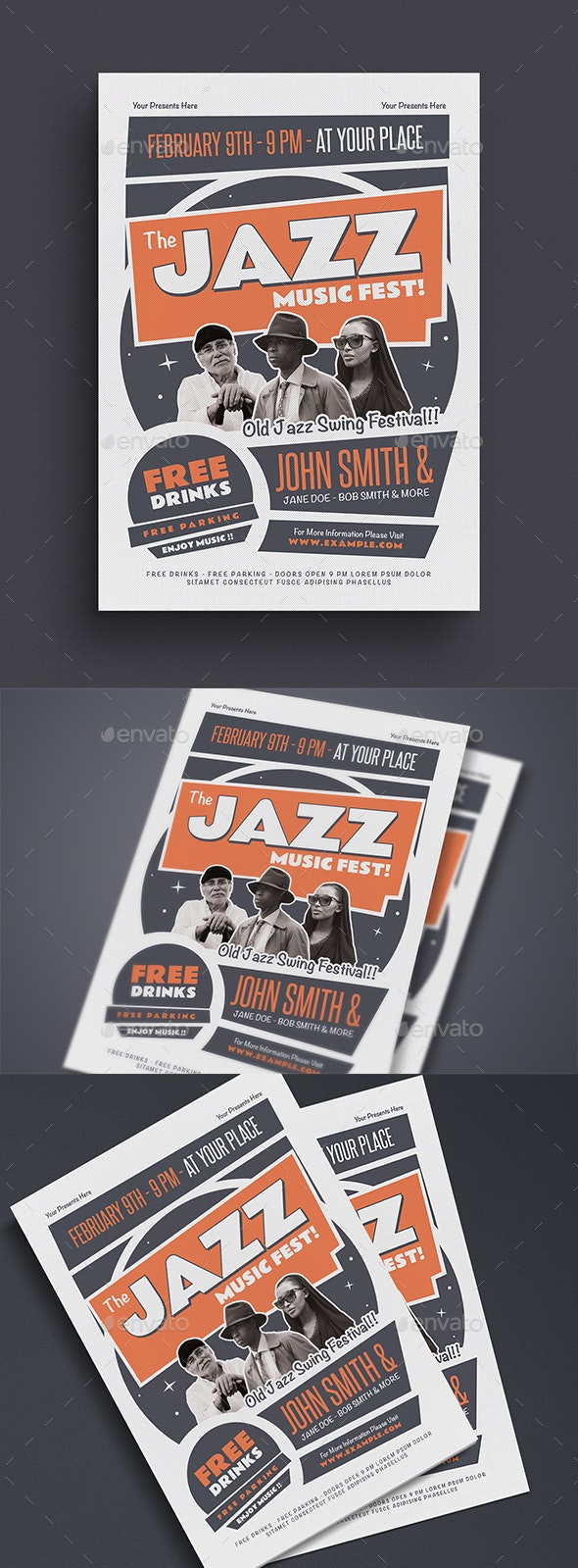 The Old Jazz Music Flyer - Events Flyers