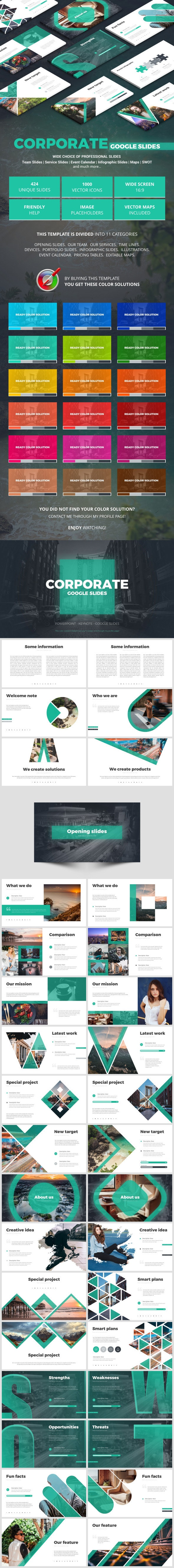 Corporate Google Slides - Google Slides Presentation Templates