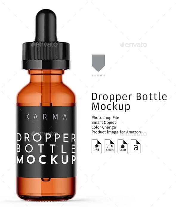 Dropper Bottle Mockup 7 - Packaging Product Mock-Ups
