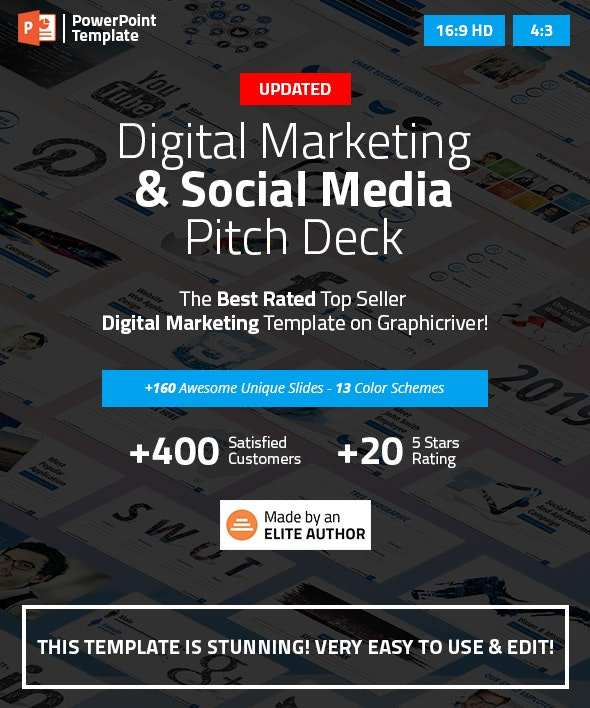 Digital Marketing and Social Media PPT Pitch Deck by