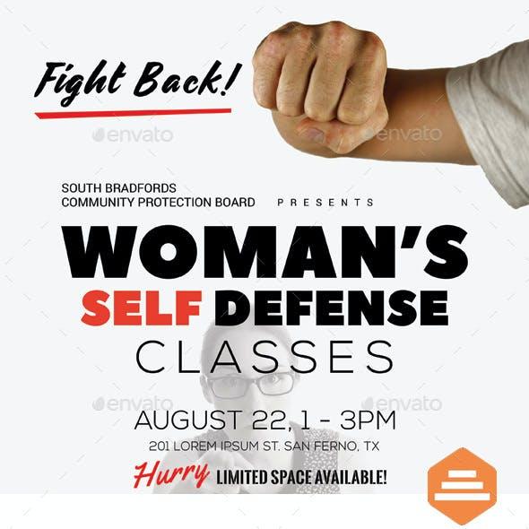 Woman's Self Defense Flyer Templates