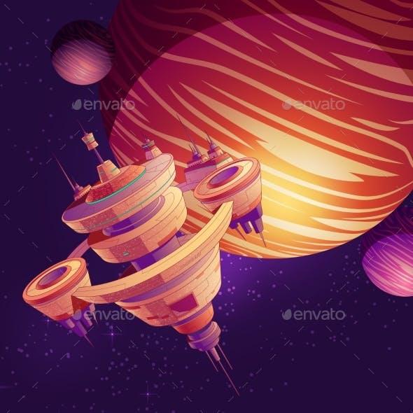 Futuristic Starship