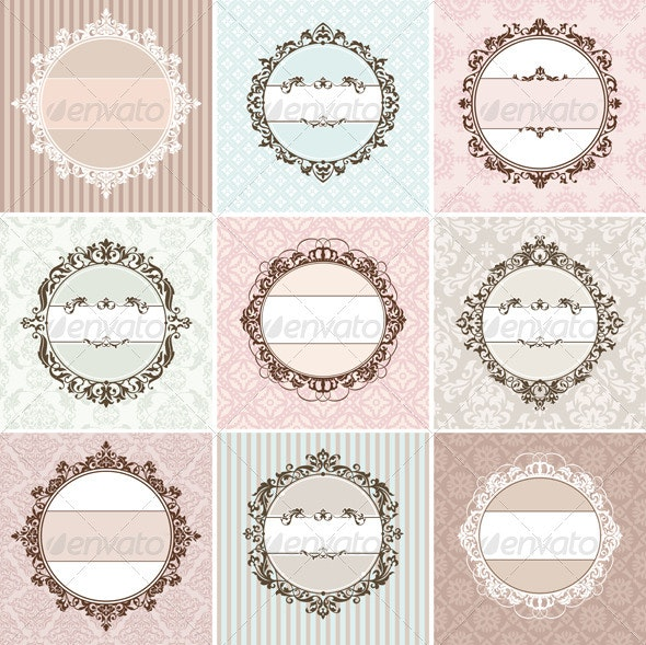 Vintage Vector Frames - Borders Decorative