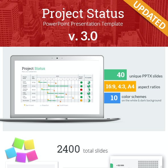 Project Status PowerPoint Presentation Template