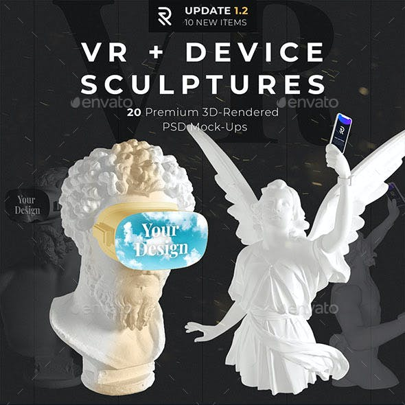 VR + Device Sculptures Mock-Up