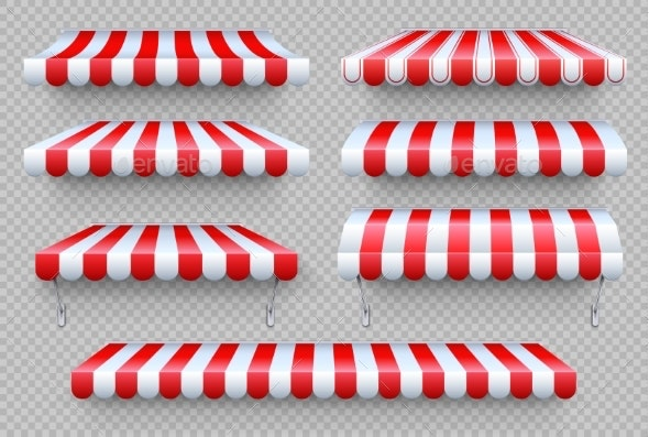 Striped Awning - Man-made Objects Objects