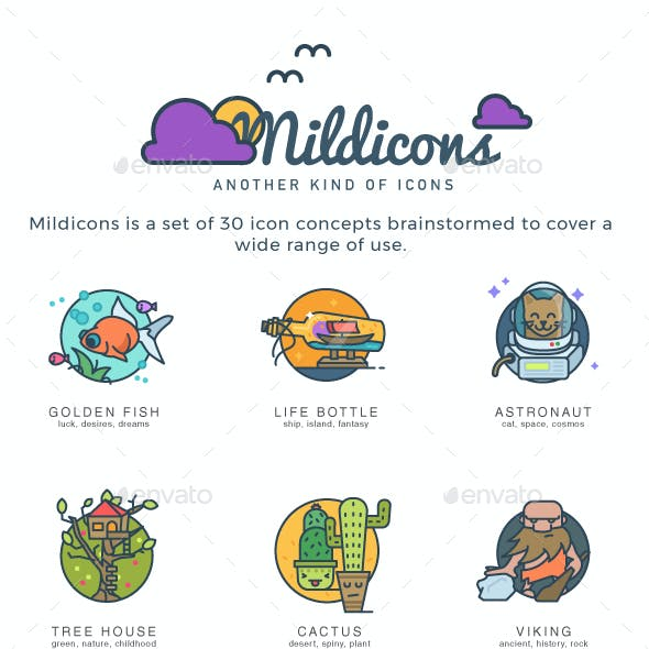 Mildicons - Another kind of icons