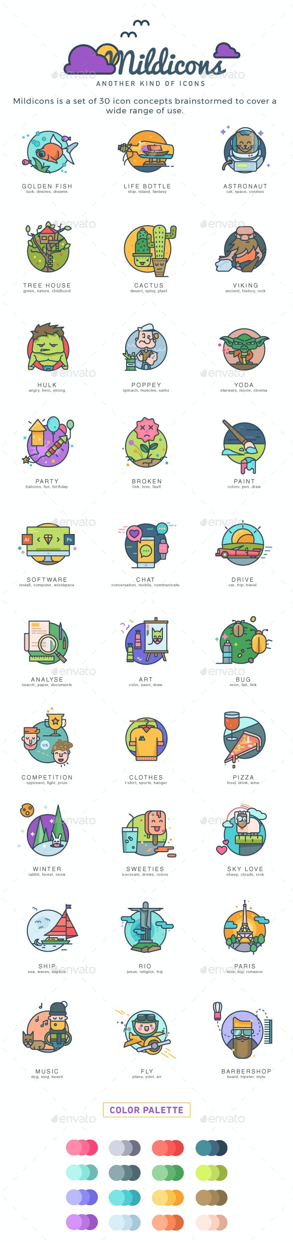 Mildicons - Another kind of icons - Web Icons