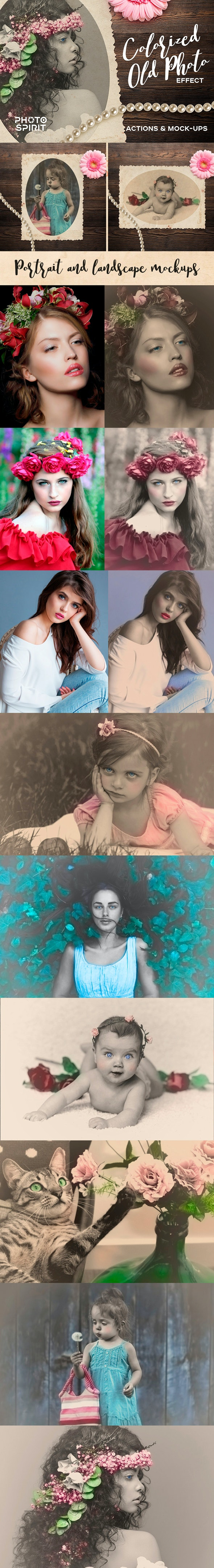 Colorized Old Photo Effect Photoshop - Photo Effects Actions