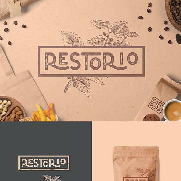 Restorio - The Florest Textured Typeface