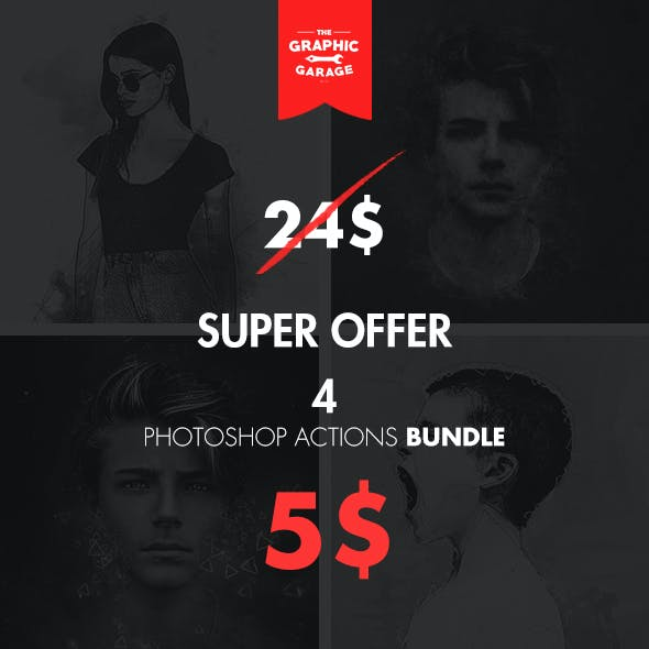 Bundle 4 in 1 - Photoshop Action