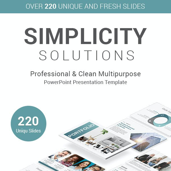Simplicity Solutions PowerPoint Presentation Template