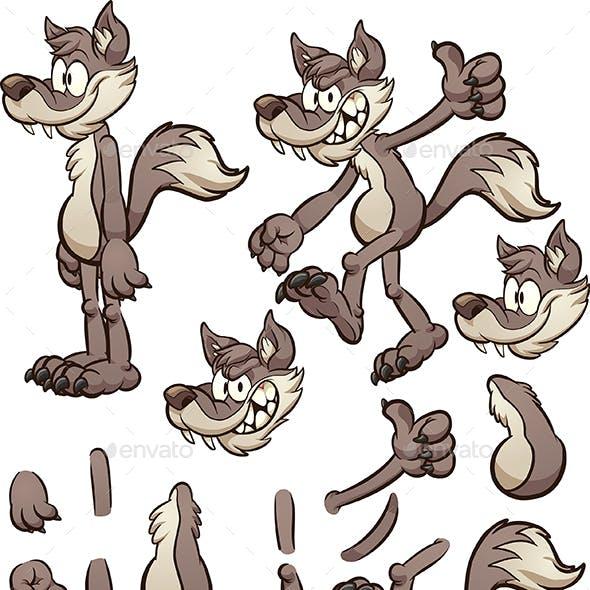 Cartoon Wolf or Coyote