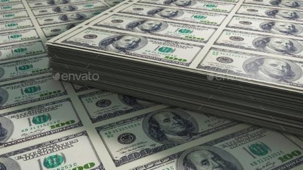 Dollar Bills. 3D Render - 3D Backgrounds
