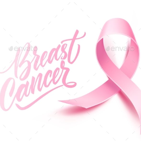 Vector Breast Cancer Awareness Poster Pink Ribbon