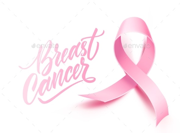 Vector Breast Cancer Awareness Poster Pink Ribbon - Health/Medicine Conceptual