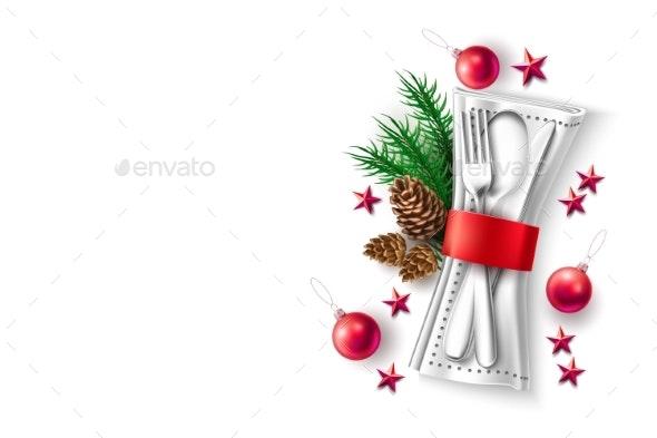 Vector Christmas Holiday Cafe Menu - Christmas Seasons/Holidays