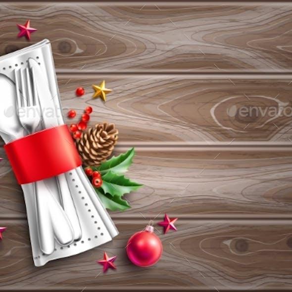 Vector Christmas Holiday Cafe Menu