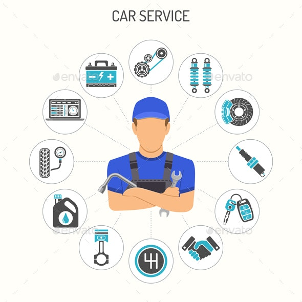 Car Service Concept - Services Commercial / Shopping