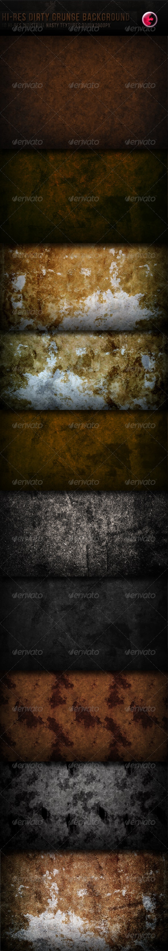 10 Hi-res Dirty Grunge TeXture/Background - Industrial / Grunge Textures