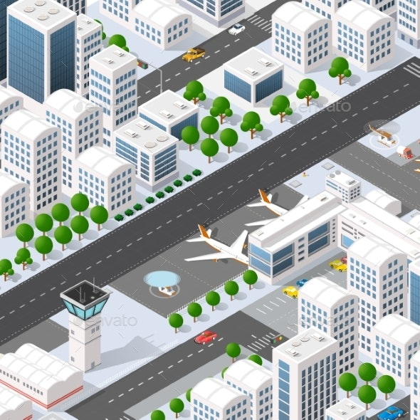 City Megapolis Structure - Buildings Objects