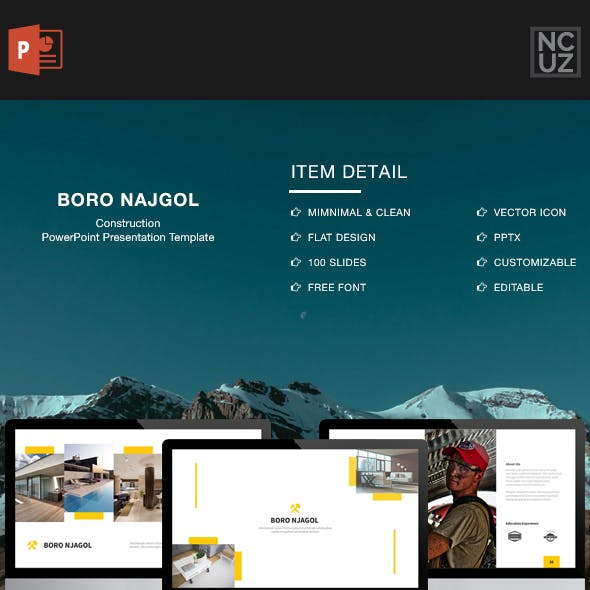 Boro Njagol Construction Powerpoint Template