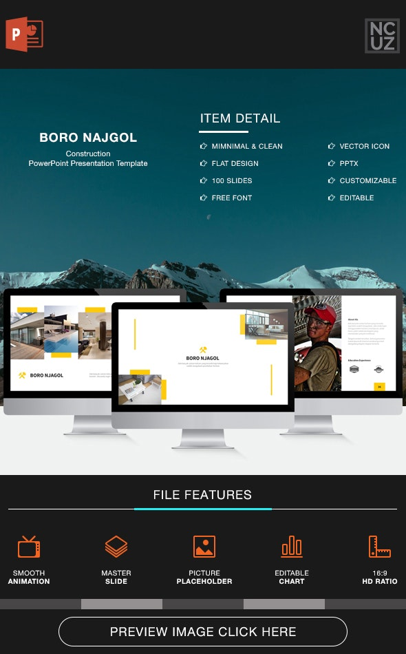 Boro Njagol Construction Powerpoint Template - Business PowerPoint Templates