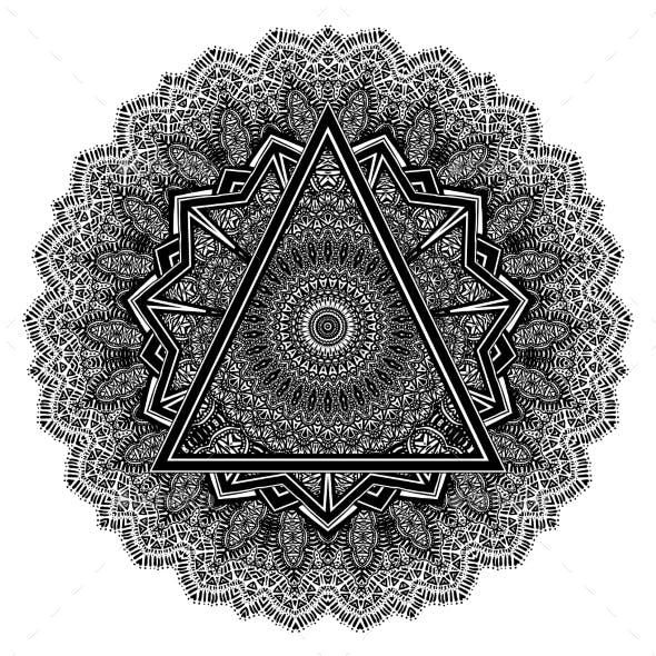 Mandala. African Ethnic Round Vector Ornament.