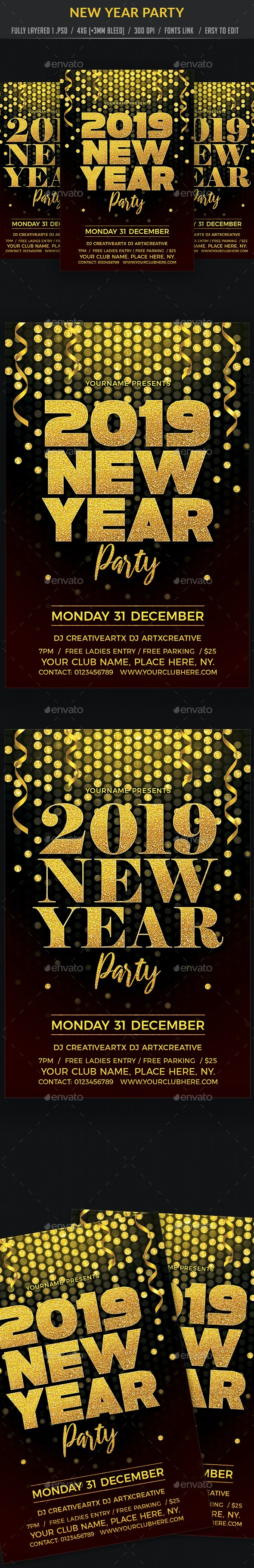 New Year Party - Clubs & Parties Events
