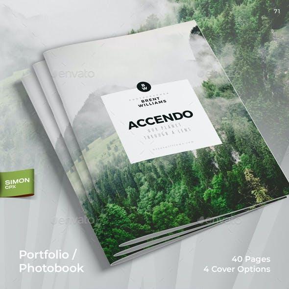 Accendo - Portfolio / Photobook / Brochure / Catalog - 40 Pages - A4 and Letter