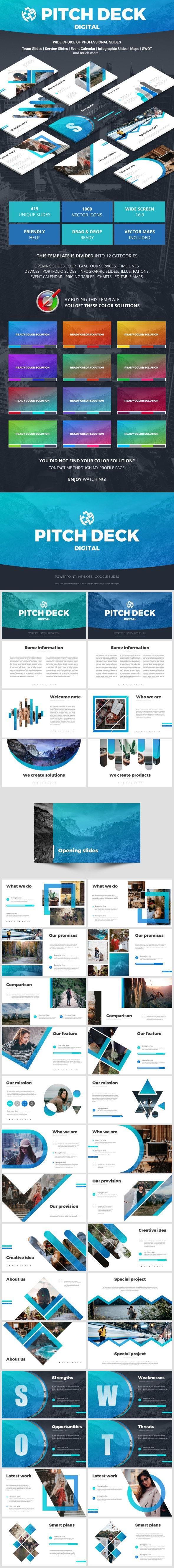 Pitch Deck Digital - Pitch Deck PowerPoint Templates