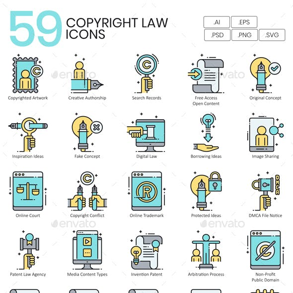 Copyright Law Icons