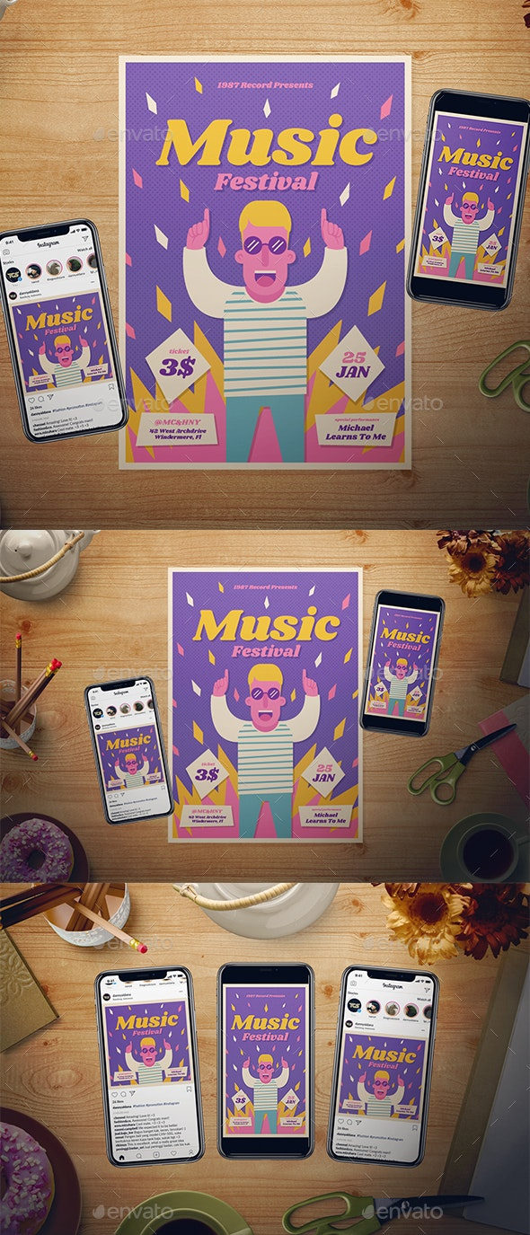 Music Festival Flyer Set - Events Flyers