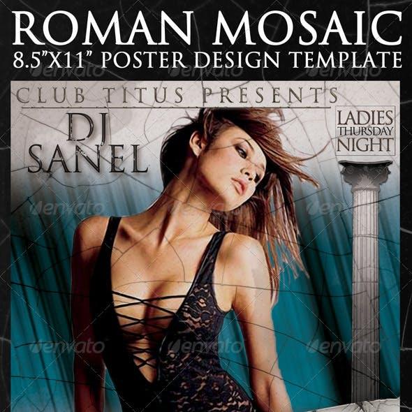 Roman Mosaic Poster Template 8.5x11
