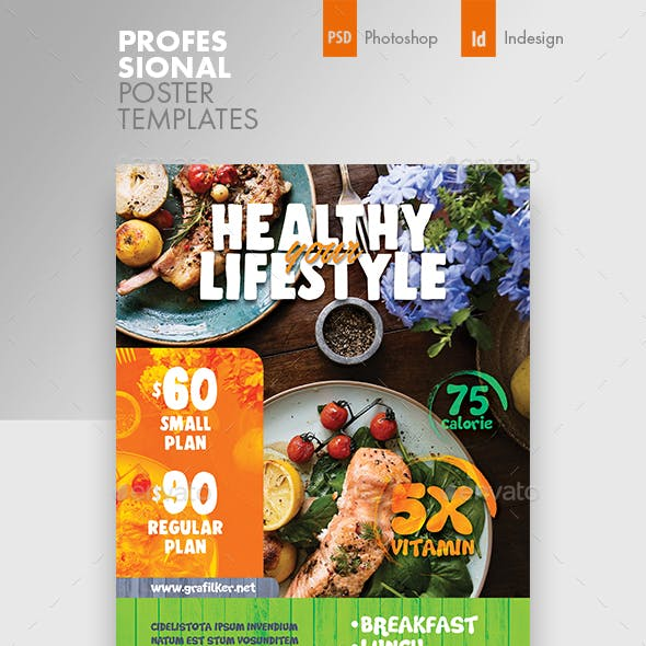 Healthy Food Poster Templates
