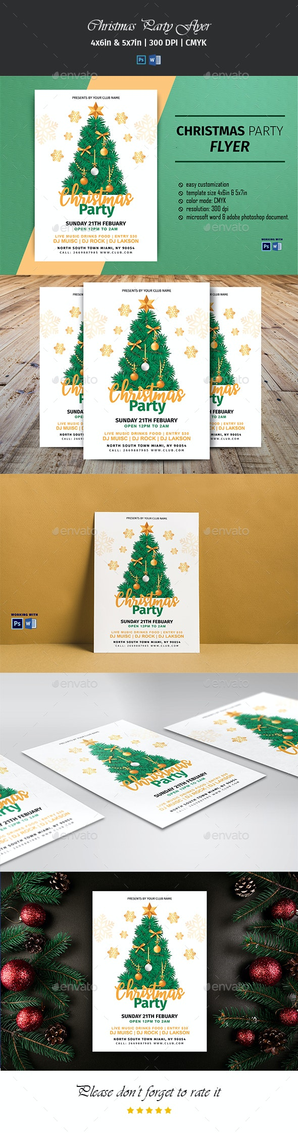 Christmas Party Flyer V01 - Clubs & Parties Events