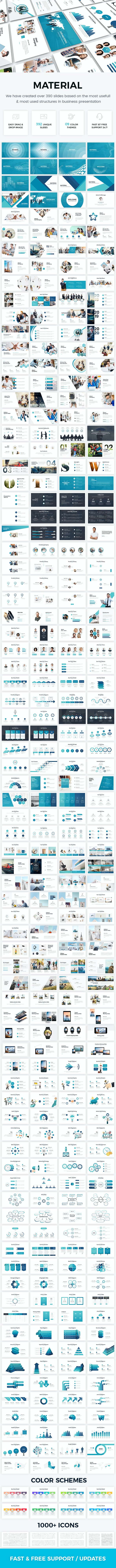 Material - Clean Business Powerpoint Template 2019 - Business PowerPoint Templates