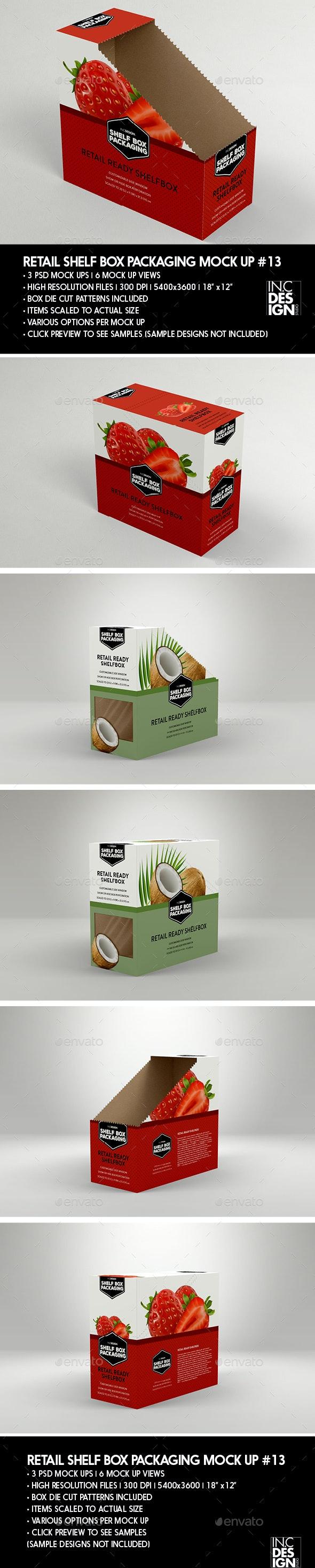 Retail Shelf Box Packaging MockUp No.13 - Packaging Product Mock-Ups