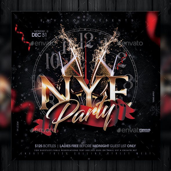 NYE Party Flyer Template