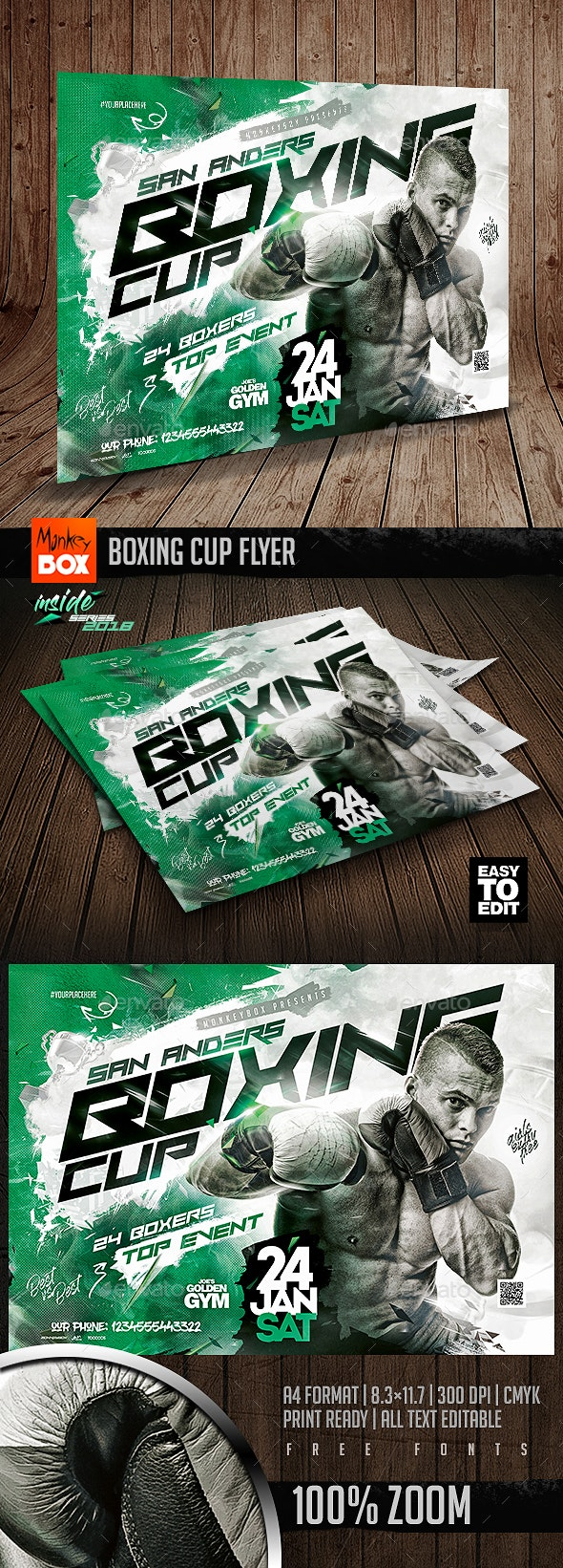 Boxing Cup Flyer - Sports Events