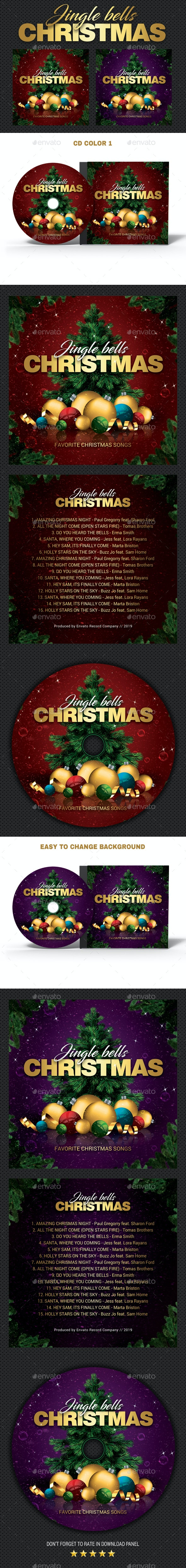 Christmas Bells CD Cover v2 - CD & DVD Artwork Print Templates
