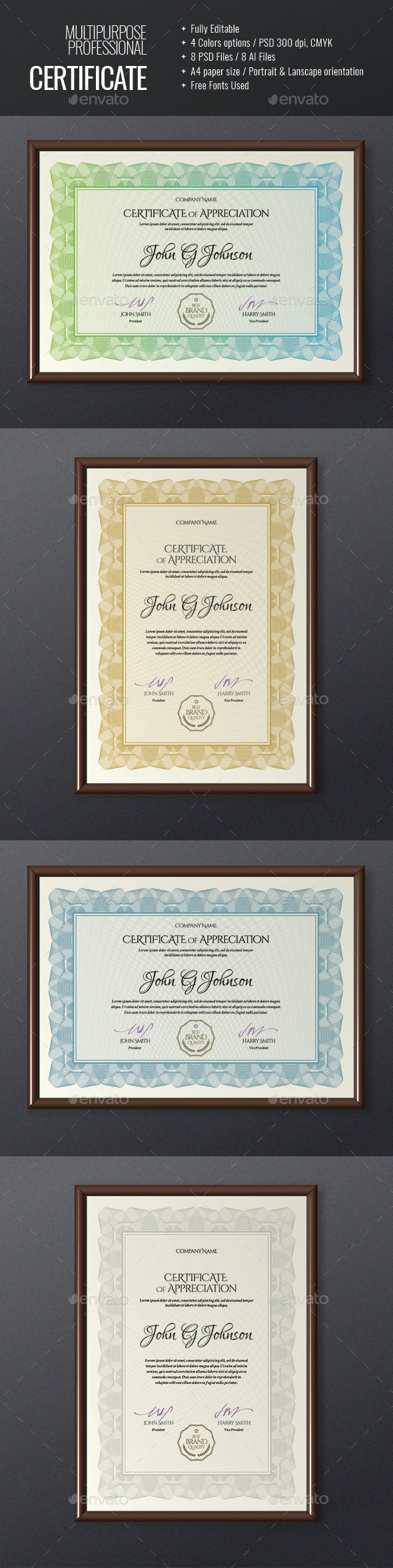 Certificate or Diploma Template - Certificates Stationery