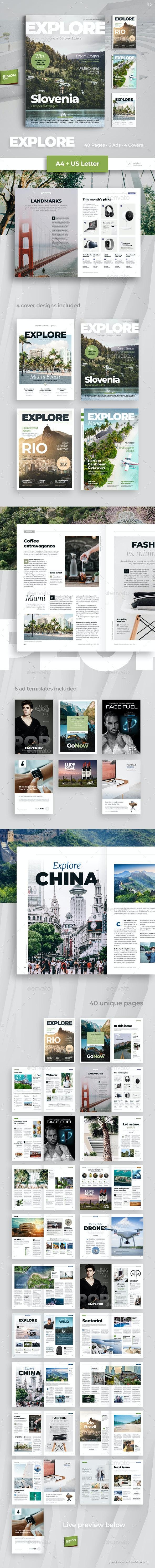 Explore Magazine - Magazines Print Templates
