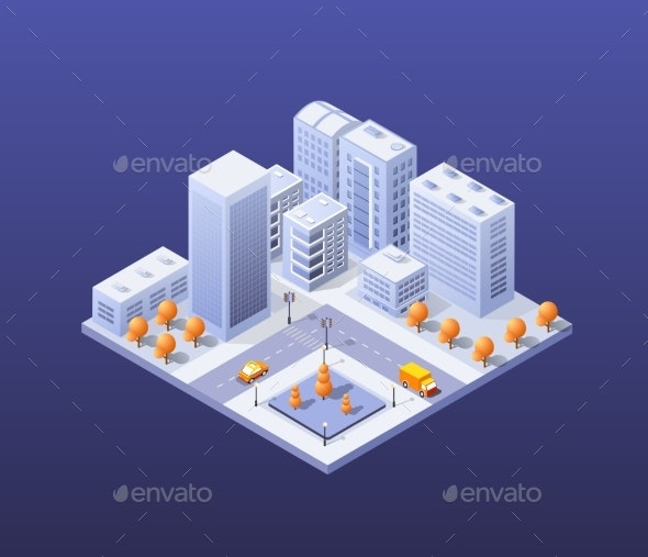 City Set Modern Skyscraper - Buildings Objects